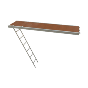 Passagevlonder Alu + ladder